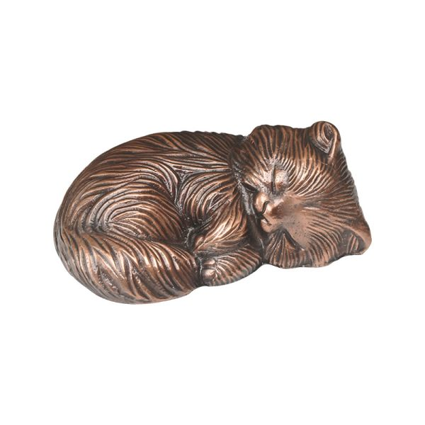 Sleeping Kitty Copper Statue - Cat Memorial - Allied Veterinary Cremation in Manheim, PA
