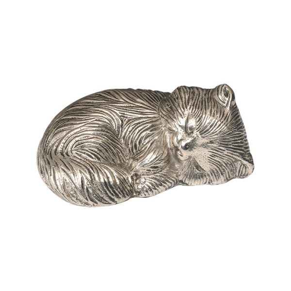 Sleeping Kitty Nickel Statue - Cat Memorial - Allied Veterinary Cremation in Manheim, PA