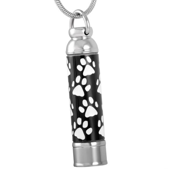 Cylinder with White Paw Prints - Pet Memorial - Allied Veterinary Cremation in Manheim, PA