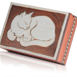 Linden Wood Box for Cats - Cat Urns - Allied Veterinary Cremation in Manheim, PA