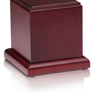 Birch Wood Cube with Cherry Finish for Pet Ashes - Pet Memorial - Allied Veterinary Cremation in Manheim, PA